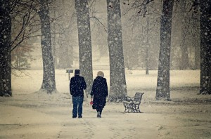 Couple-in-the-snow- steven michael