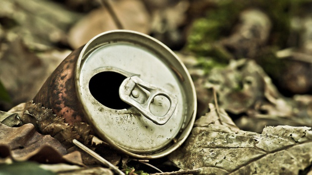 Cans-Garbage-leaves